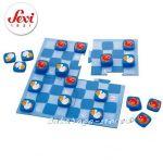 SEVI Дървена Игра ДАМА от серията Travel Game - 81886 CHECKERS