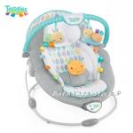 Bright Starts Шезлонг за бебе музикален с вибрации от серията TaGgies Soft and Snug Leafscape, 60023