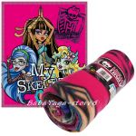Kids fleece blanket Monster High sceleton, 7204