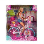 Simba Steffi Love КУКЛА Стефи на РАЗХОДКА с колело - 105739050