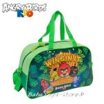 Детска пътна чанта (САК) с Ядосани птици, Angry Birds travel bag, зелена ABH074