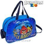 Детска пътна чанта (САК) с Ядосани птици, Angry Birds travel bag, синя ABK074
