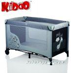 Кошарка за бебе на едно ниво ЖИРАФ от KIDDO - 4014 сиво/черно