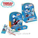 Раница и несесер с моливи за оцветяване ВЛАКЧЕТО ТОМАС Thomas & Friends gift set - 294760