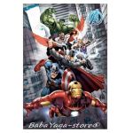 Kids fleece blanket Avengers city, 7202