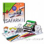 Рисувателен комплект САФАРИ за сглобяване с цветни моливи Safari Creative set colour pencils 1043