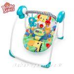 Bright Starts Люлка за бебе Portable Swing SAFARI SMILES, 60403