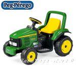 Акумулаторен трактор J.DEERE POWER PULL (6V) от Peg Perego
