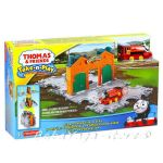 Fisher Price Thomas & Friends Steamworks Station Tile Tracks Play Set Take-n-Play CJM58