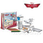 Рисувателен комплект САМОЛЕТИТЕ за сглобяване с цветни моливи,Planes Creative set colour pencils 309026