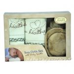 7172-ТТ CloudB Turtle Burp Cloth Gift Set, Yellow 2 pc set w/ Baby