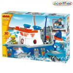 Ecoiffier Abrick Конструктор Риболовна лодка, Абрик (30ч), 3126