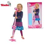 Simba 106830691 Girl's Microphone & Stand with Built in CD MP3 Player Connection
