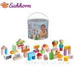 Eichhorn Simba Color, Wooden Building Blocks, 100002226