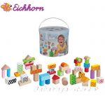 Eichhorn Дървени блокчета с кутия, Айхорн, Wooden Building Blocks, 100002226