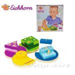 Eichhorn Дървена низанка по цветове, Айхорн, Wooden Shape Stacking Set, 100002234
