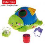 Fisher Price КОСТЕНУРКА с формички за сортиране, Friendly Firsts Turtle Shape Sorter, N1072