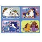 Wooden puzzle Sea world 2x4 , Mom and Baby