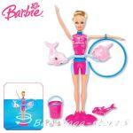Barbie Doll Dolfin trainer Splash & Spin, X8380