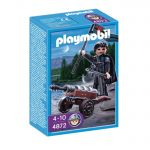 Playmobil Knights: Рицар на Ордена на Соколите, Robber Knight with Cannon, 4872