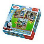 Trefl Пъзел Томас и Приятели 3в1 (106ч.), Thomas & Friends Trefl puzzle, 34821