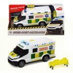Dickie Линейка музикална с носилка Iveco Dayly Ambulance, 18см., 203713013038