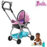 Barbie Skipper Babysitters Doll and Playset, Small Baby Doll with 2-in-1 Stroller, FXG94-GFC18