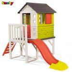 Smoby Детска къща с пързалка за игра на открито, HOUSE on Stilts, 810800