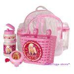 Вело-аксесоари комплект (Кошничка - бидонче - звънче) с Barbie