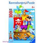 Ravensburger ПЪЗЕЛ за деца (100ч.) Пиратско приключение - 106639