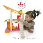 КЪЩА за Кукли от дърво обзаведена с мебели от Sevi - 82383