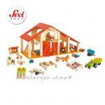 ФЕРМА дървена игра с мини фигурки Happy farm от Sevi - 82501
